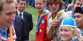 Prinz William zu Besuch am Jamboree