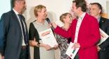 v.l.n.r. Reinhard Scheitl Post AG, Susie Hirsch Direct Mind, Sandra Eder DEBRA Austria, Rainer Riedl DEBRA Austria
