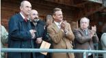 Sektionschef Hermann Feiner, GÖD-Vorsitzender Fritz Neugebauer als Zuschauer beim BMI Fußballtunier