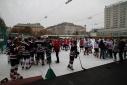 Vorbereitungen zum Eishockeyfinale am WEV
