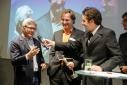 """Philipp Pertl im Gespräch mit dem Gewinner des Mercur '15 in der Kategorie """"Life Sciences"""""""