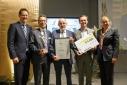 "v.l.n.r. Dr. Rainer Trefelik, die Gewinner von ""Andritz AG"" in der Kategorie ""Green Economy"", Ulrike Baumgartner-Gabitzer"