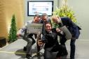 """Philipp Pertl mit den Gewinnern des Mercur '15 in der Kategorie """"Green Economy"""" """"Andritz AG"""""""