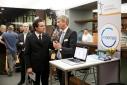 """Philipp Pertl beim Interview mit dem Team der """"enGenes Biotech GmbH"""", Kontaktperson: Jürgen Mairhofer, Jens Pontiller"""