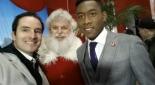 Philipp Pertl mit dem Coca-Cola Weihnachtsmann und Fußballliebling David Alaba