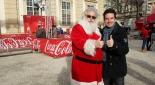 Philipp Pertl mit dem Coca-Cola Weihnachtsmann
