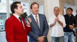 Philipp Pertl beim Interview mit Bgm. Labg. Dr. Martin Michalitsch