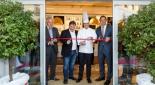 Die offizielle Eröffnung der Konditorei, v.l.n.r. Bürgermeister Franz Wohlmuth, Günther Heiss, Christian Heiss, Bgm. Labg. Dr. Martin Michalitsch
