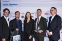 Die Mitglieder des Unternehmens JObSwipr mit Mag. Andrea Lehky (Tageszeitung Die Presse) und Dr. Stefan Buchinger (BMWFW)