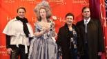 v.l.n.r. GF Madame Tussauds Wien - Arabella Kruschinski, Marie Antoinette, Herta Margarete Habsburg, Sandor Habsburg-Lothringen