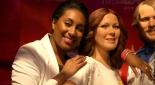 Posieren mit den ABBA Stars