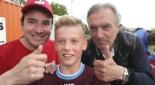 Philipp Pertl, Hans Huber und Spieler