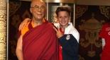 Dalai Lama  in wachs und ein Spieler