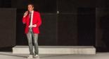 Philipp Pertl beim moderieren