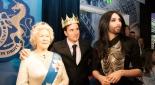 Die Queen in wachs, Philipp Pertl und conchita Wurst