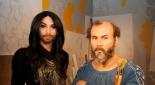 Conchita Wurst und Gustav Klimt in wachs