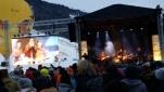 Die Bühne des Eröffnungsfests der längsten Talabfahrt Österreichs