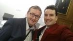 Philipp Pertl mit dem Fotographen Michael Weinwurm