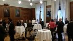 Die Gäste des Sicherheitsfrühstück