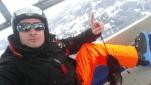 Philipp Pertl macht sich auf zum Schi fahren