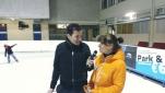Philipp Pertl im Gespräch mit der Eiskunstlauf-Europameisterin von 1982, Claudia Kristofics-Binder